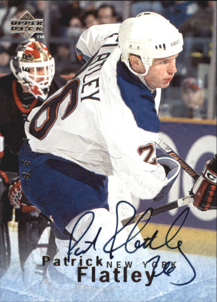 1995-96 Be A Player Autographs #S13 Pat Flatley
