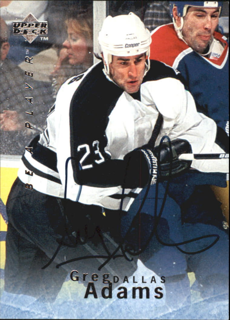 1995-96 Be A Player Autographs #S22 Greg Adams