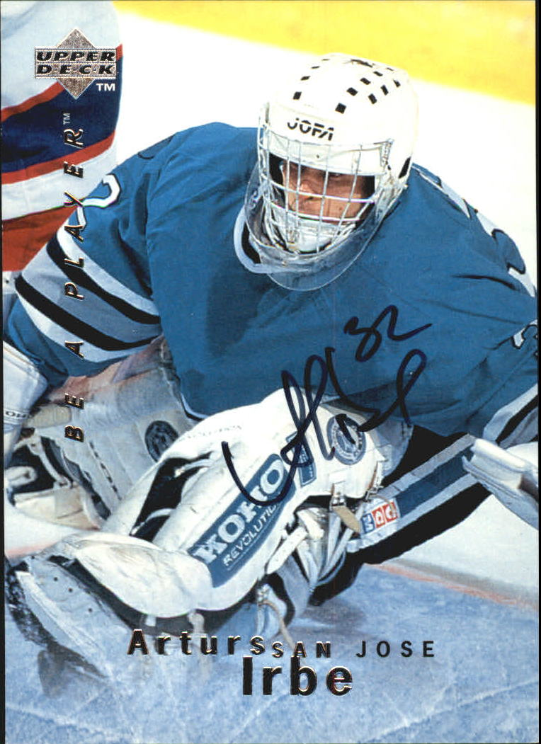 1995-96 Be A Player Autographs #S23 Arturs Irbe