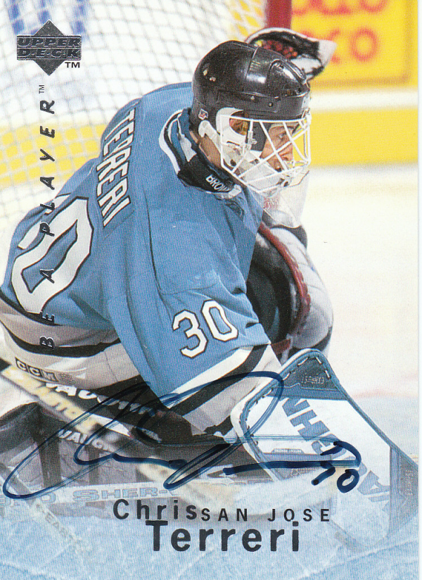 1995-96 Be A Player Autographs #S27 Chris Terreri