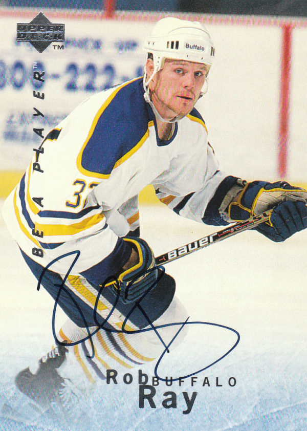 1995-96 Be A Player Autographs #S56 Rob Ray