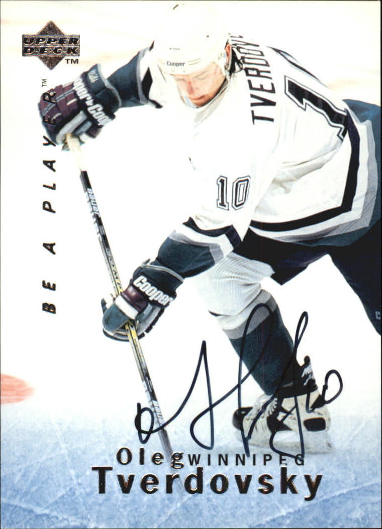 1995-96 Be A Player Autographs #S61 Oleg Tverdovsky