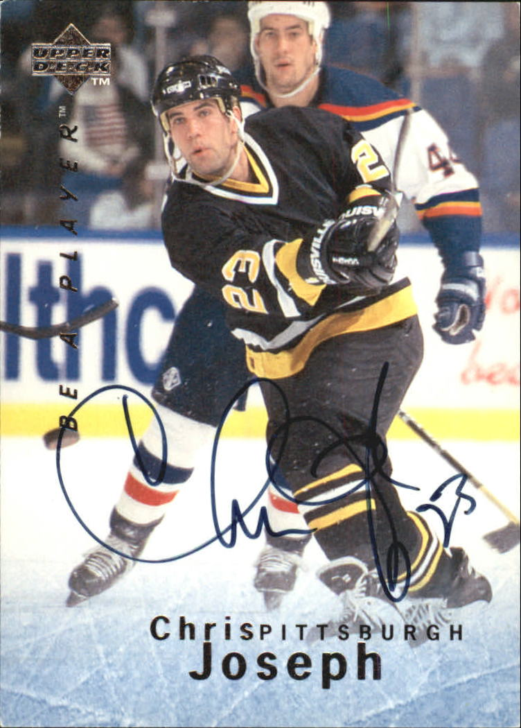 1995-96 Be A Player Autographs #S98 Chris Joseph