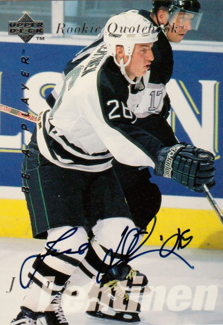 1995-96 Be A Player Autographs #S175 Jere Lehtinen