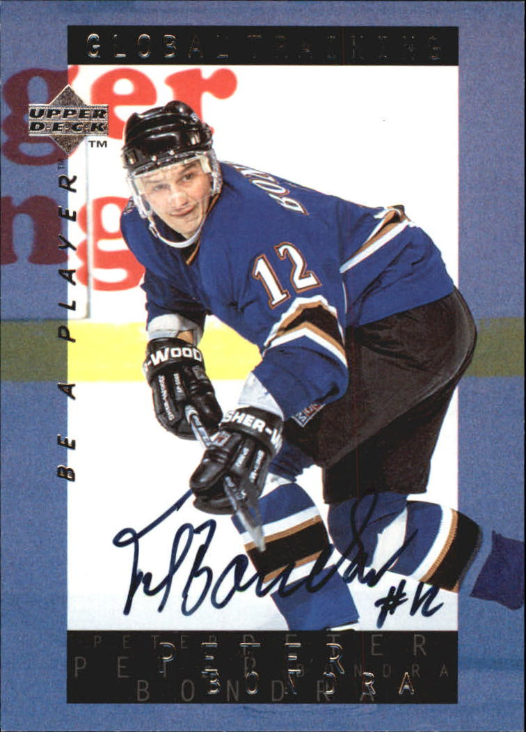 1995-96 Be A Player Autographs #S210 Peter Bondra