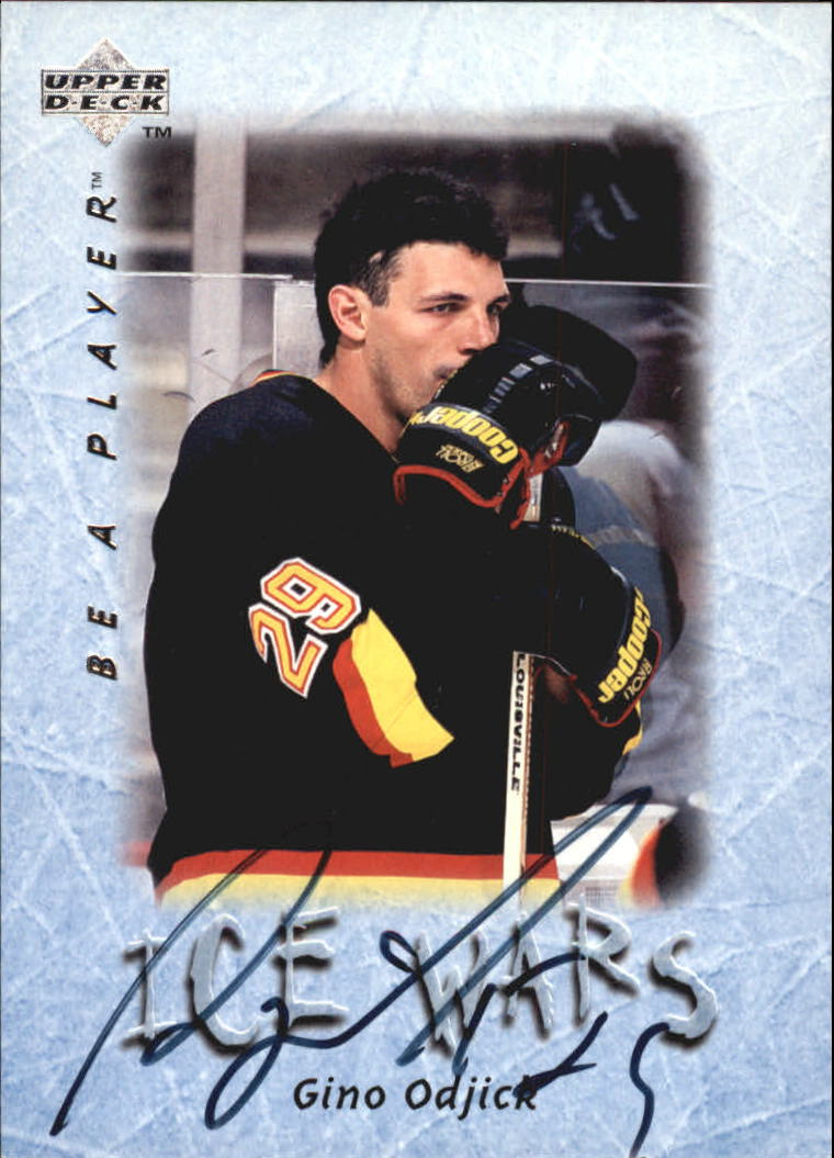 1995-96 Be A Player Autographs #S222 Gino Odjick