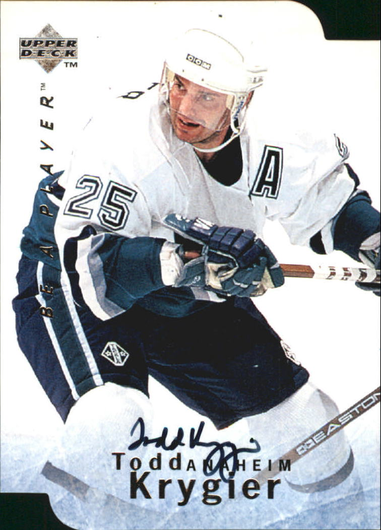 1995-96 Be A Player Autographs Die Cut #S93 Todd Krygier