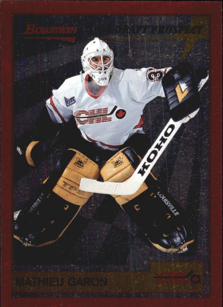 1995-96 Bowman Draft Prospects #P14 Mathieu Garon