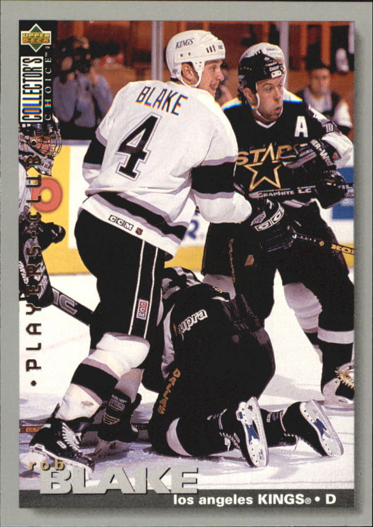 1995-96 Collector's Choice Player's Club #160 Rob Blake