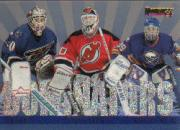 1995-96 Donruss Dominators #4 Jim Carey/Martin Brodeur/Dominik Hasek