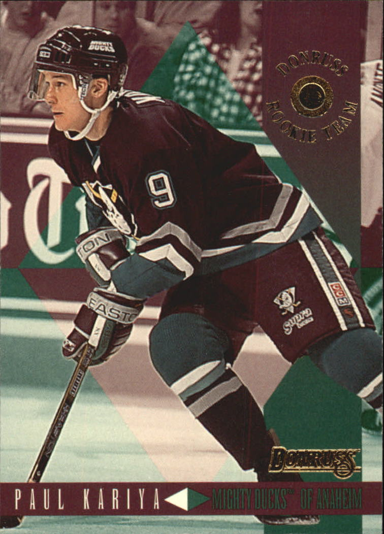 1995-96 Donruss Rookie Team #3 Paul Kariya