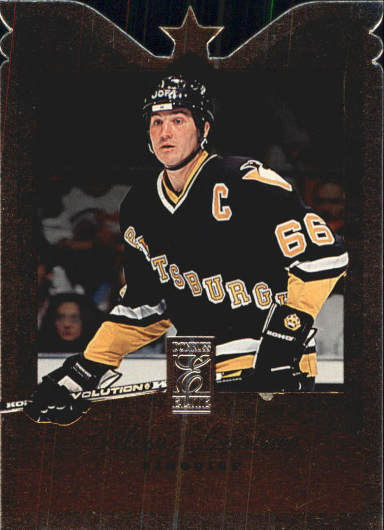1995-96 Donruss Elite Die Cuts #66 Mario Lemieux