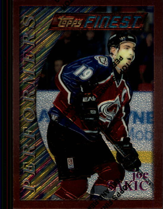 1995-96 Finest #80 Joe Sakic B