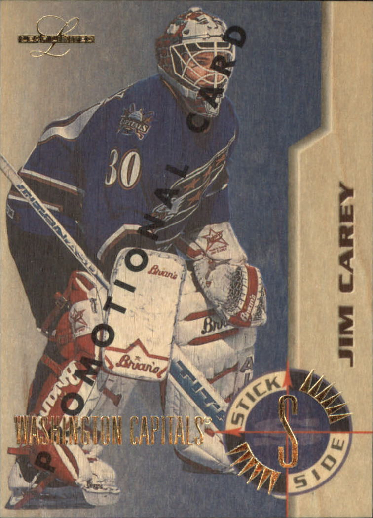 1995-96 Leaf Limited Stick Side #1 Jim Carey