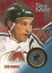 1995-96 Metal #NNO Joe Sakic Coin Card