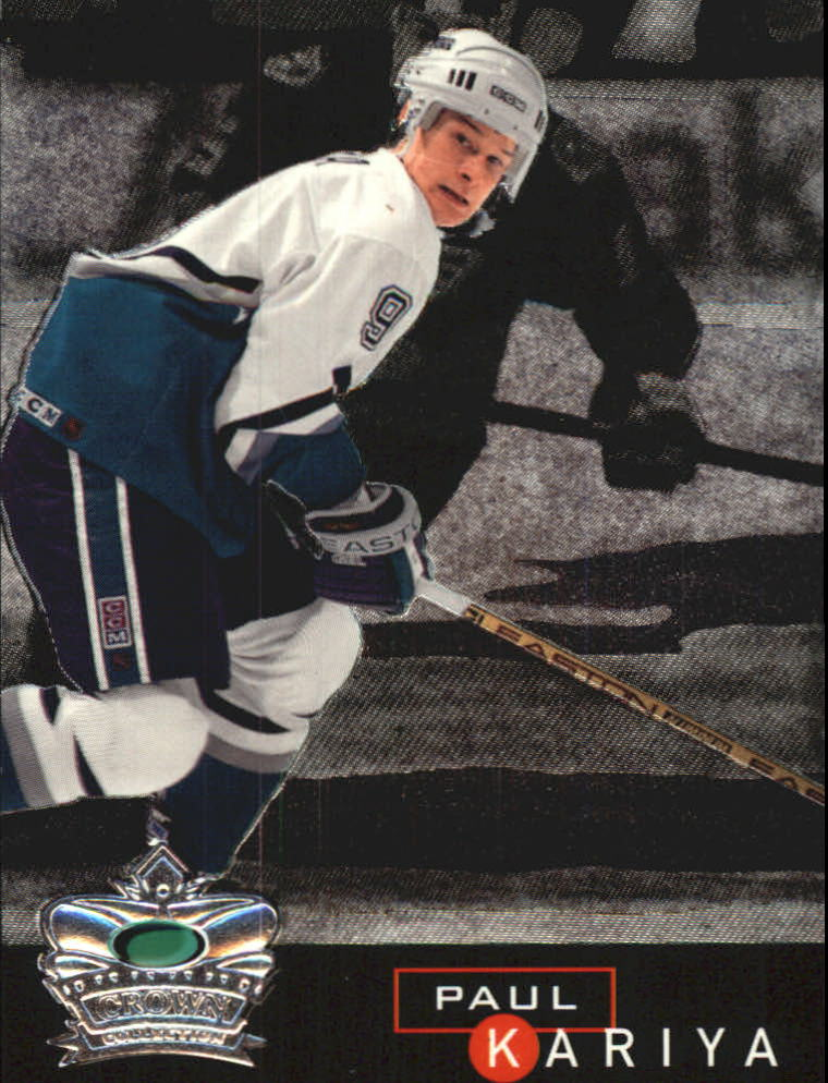 1995-96 Parkhurst International Crown Collection Silver Series 1 #4 Paul Kariya