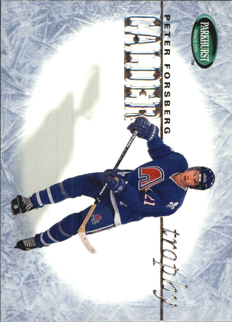 1995-96 Parkhurst International Trophy Winners #3 Peter Forsberg