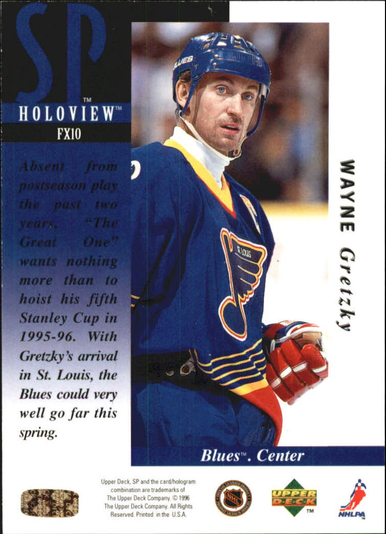 1995-96 SP Holoviews #FX10 Wayne Gretzky back image