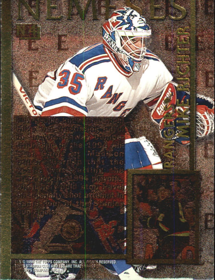 1995-96 Stadium Club Nemeses #N4 Pavel Bure/Mike Richter back image