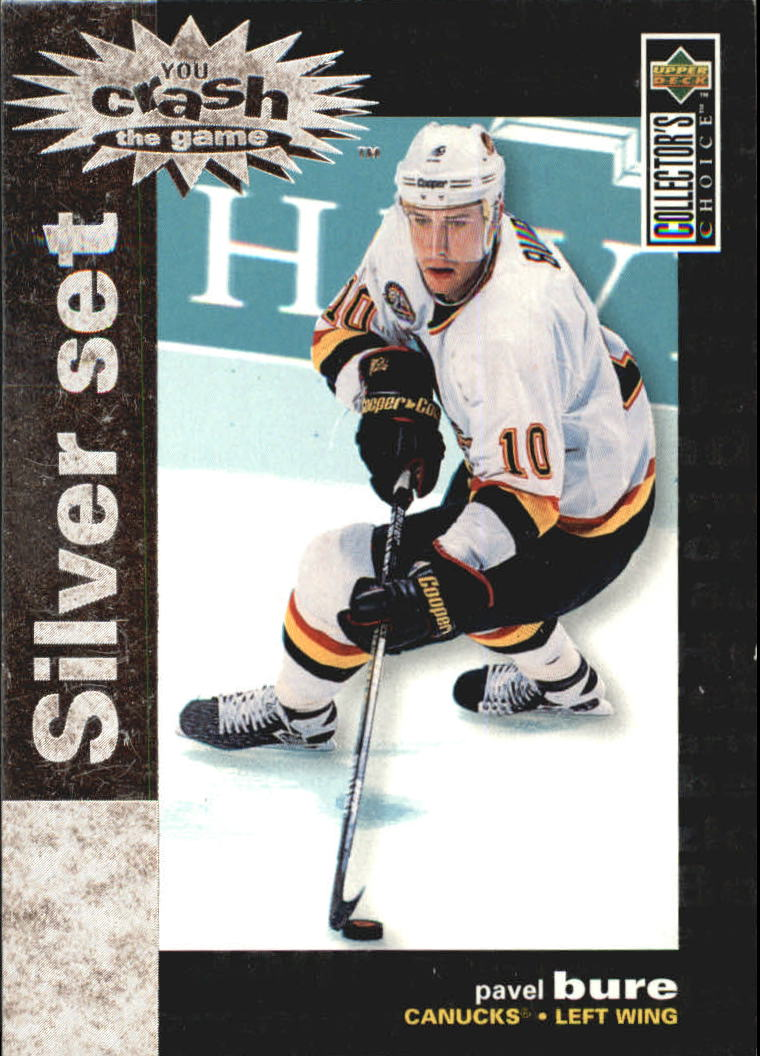 1995-96 Collector's Choice Crash the Game Silver Prize #C1 Pavel Bure