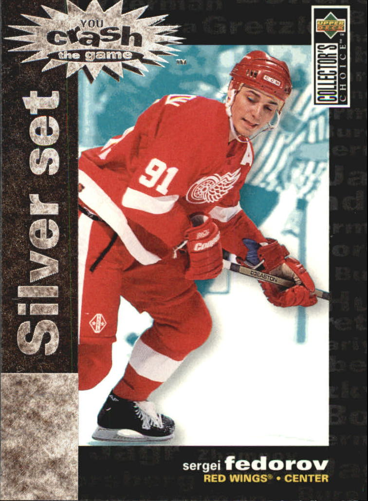 1995-96 Collector's Choice Crash the Game Silver Prize #C2 Sergei Fedorov