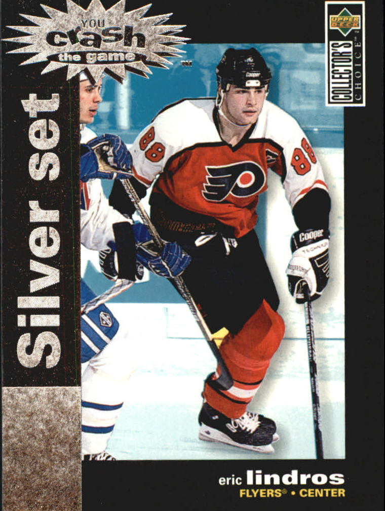 1995-96 Collector's Choice Crash the Game Silver Prize #C4 Eric Lindros