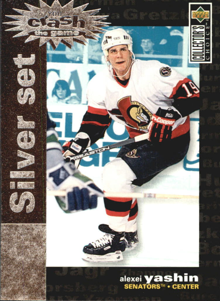 1995-96 Collector's Choice Crash the Game Silver Prize #C18 Alexei Yashin