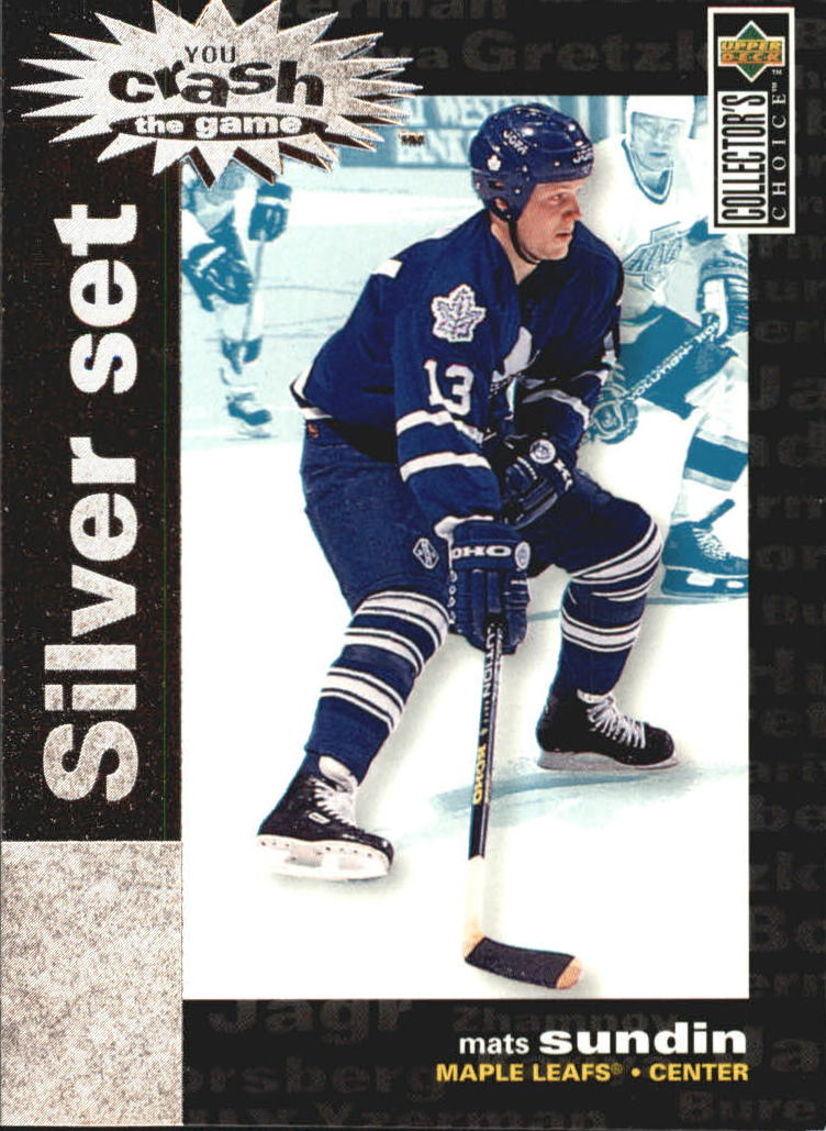 1995-96 Collector's Choice Crash the Game Silver Prize #C30 Mats Sundin
