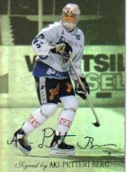 1995-96 Finnish SISU Limited Signed and Sealed #4 Aki Berg