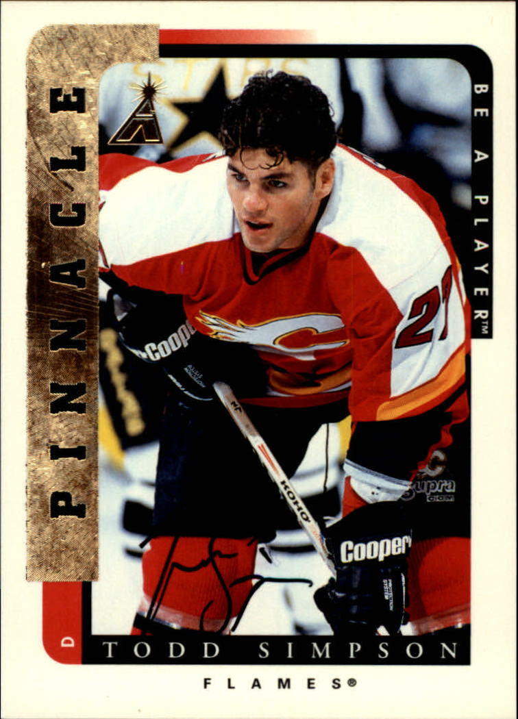 1996-97 Be A Player Autographs #105 Todd Simpson