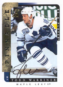1996-97 Be A Player Autographs #122 Todd Warriner