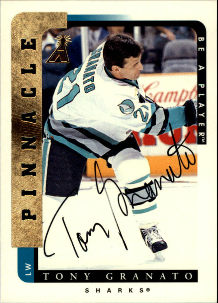 1996-97 Be A Player Autographs #142 Tony Granato