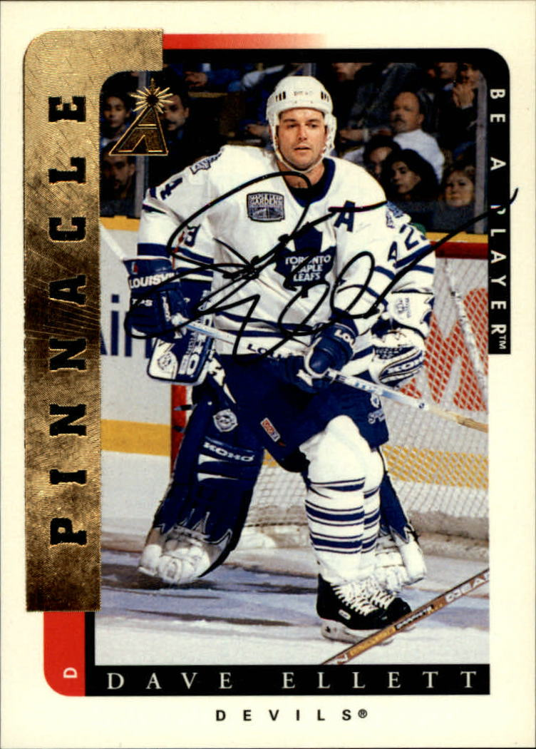 1996-97 Be A Player Autographs #177 Dave Ellett
