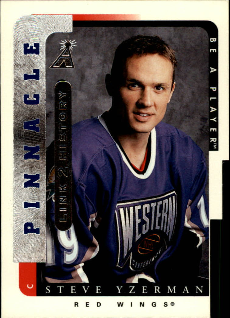 1996-97 Be A Player Link to History #9B Steve Yzerman