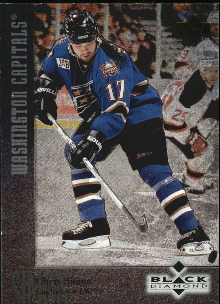 1996-97 Black Diamond #67 Chris Simon
