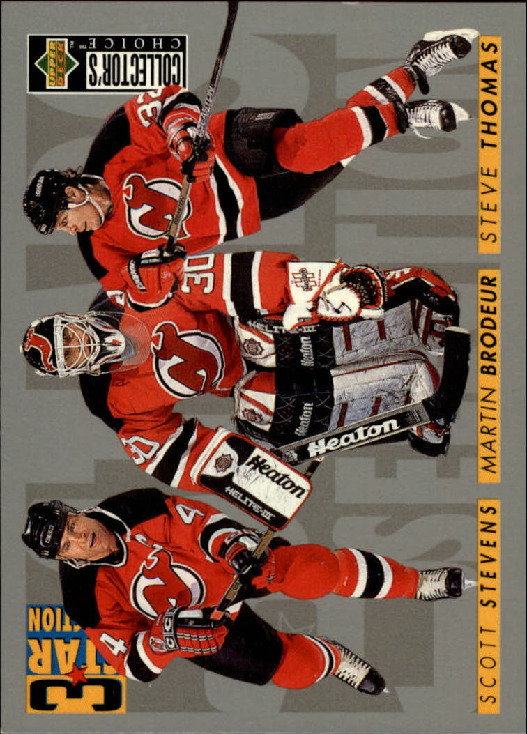 1996-97 Collector's Choice #322 Brodeur/Thomas/Stevens