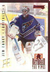 1996-97 Donruss Between the Pipes #3 Jim Carey