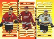 1996-97 Donruss Dominators #3 Chris Chelios/Paul Coffey/Ray Bourque