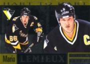 1996-97 Donruss Elite Hart to Hart #ML1A Mario Lemieux AU/166