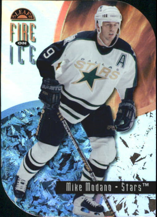 1996-97 Leaf Fire On Ice #14 Mike Modano