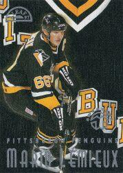 1996-97 Leaf Sweaters Away #1 Mario Lemieux