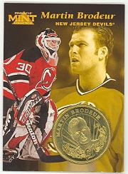 1996-97 Pinnacle Mint Coins Brass #23 Martin Brodeur