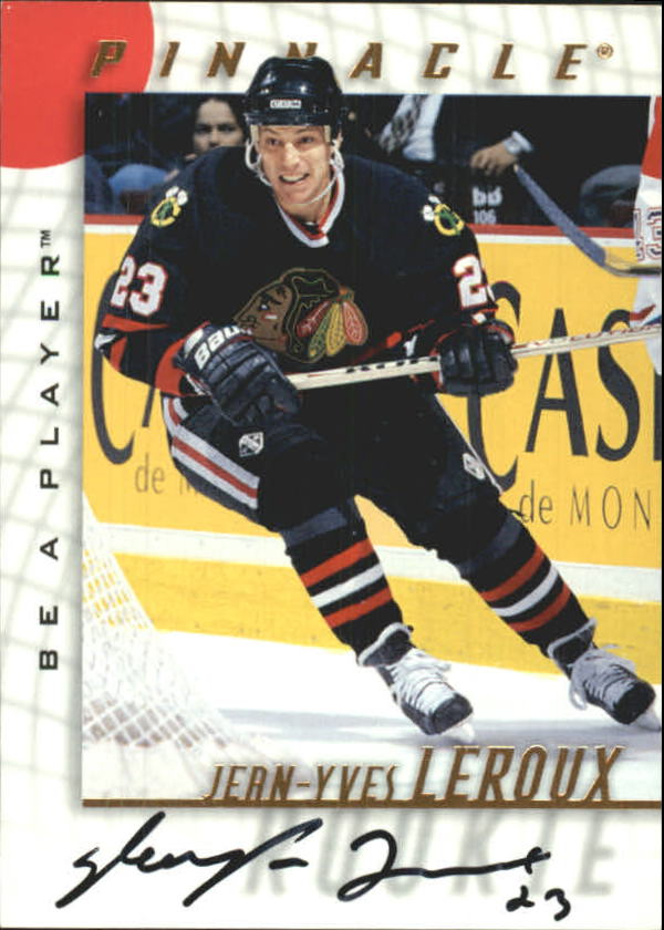 1997-98 Be A Player Autographs #45 Jean-Yves Leroux