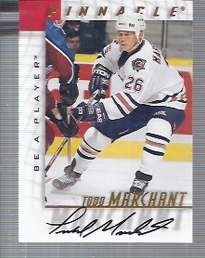 1997-98 Be A Player Autographs #72 Todd Marchant