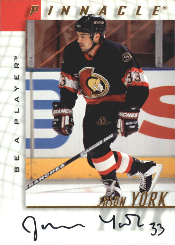 1997-98 Be A Player Autographs #95 Jason York