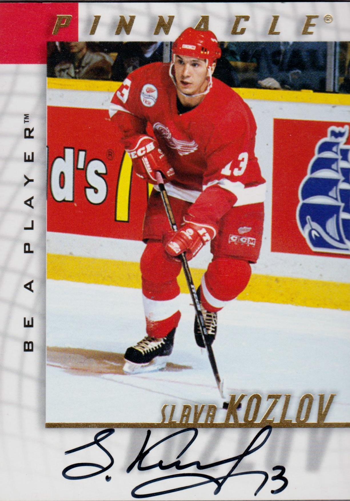 1997-98 Be A Player Autographs #97 Slava Kozlov