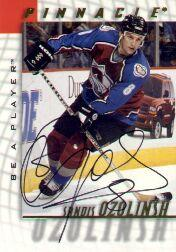 1997-98 Be A Player Autographs #115 Sandis Ozolinsh