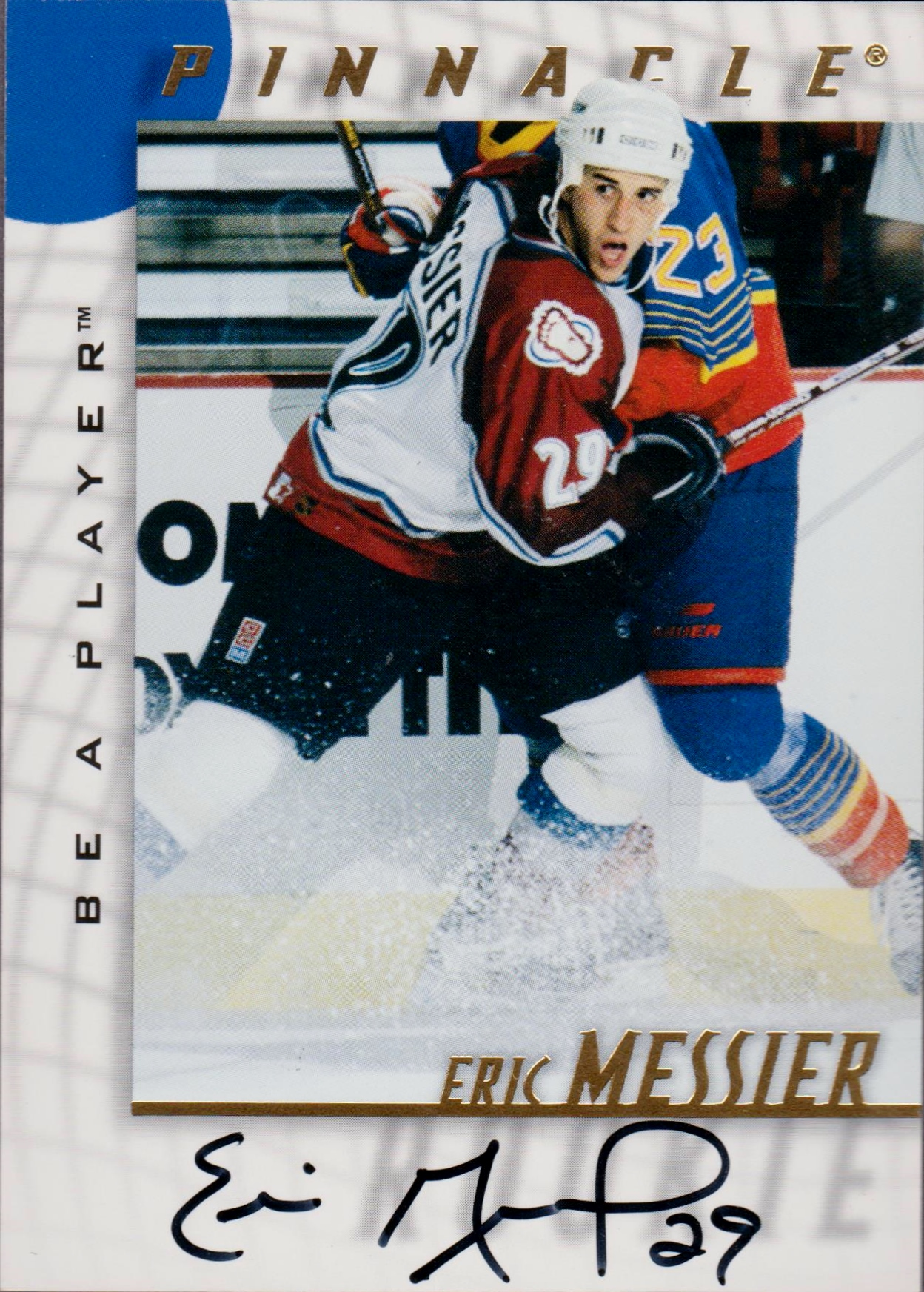 1997-98 Be A Player Autographs #204 Eric Messier