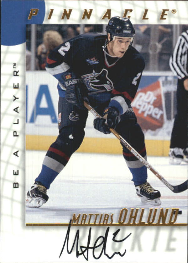 1997-98 Be A Player Autographs #215 Mattias Ohlund