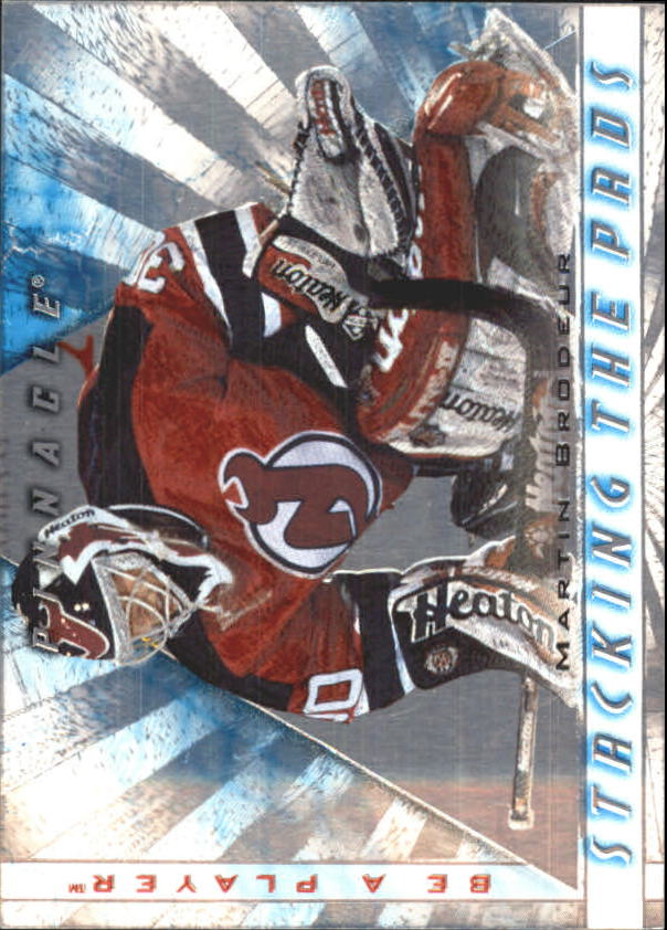 1997-98 Be A Player Stacking the Pads #11 Martin Brodeur